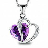 Heart Crystal Rhinestone Necklace